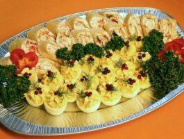 munavaagen, täidetud munad, tortillarullid